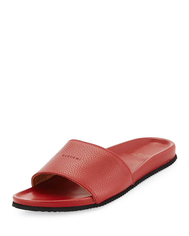 7ba7b956e4c8 Buscemi Leather Slide Sandal
