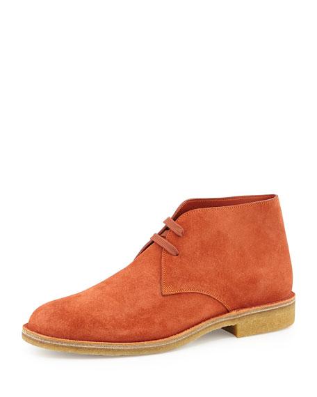 Bottega Veneta Suede Desert Boot, Orange