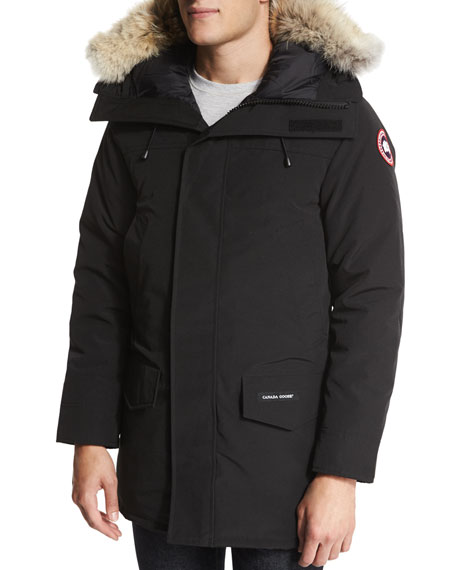 Canada Goose Langford Parka with Fur-Trimmed Hood, Black