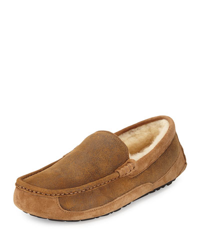 Ascot Distressed Slipper, Light Brown
