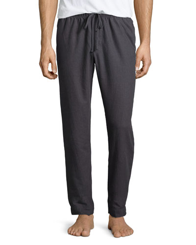 Emilien Flannel Lounge Pants, Gray