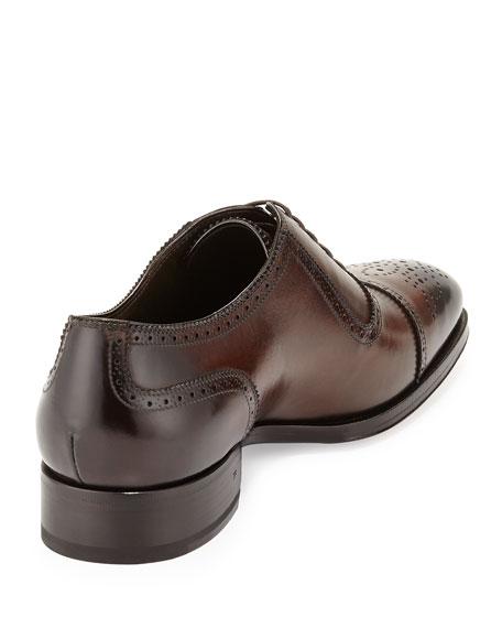 TOM FORD Austin Cap-Toe Oxford Shoe, Brown
