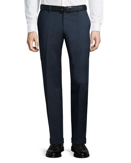 boss hugo boss solid slim fit wool trousers navy. Black Bedroom Furniture Sets. Home Design Ideas