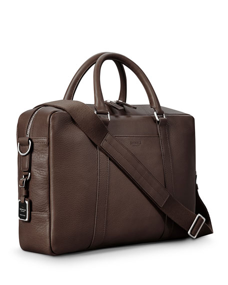 Men's Slim Leather Briefcase