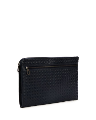 pretty nice 85018 f414f Woven Leather Portfolio Case