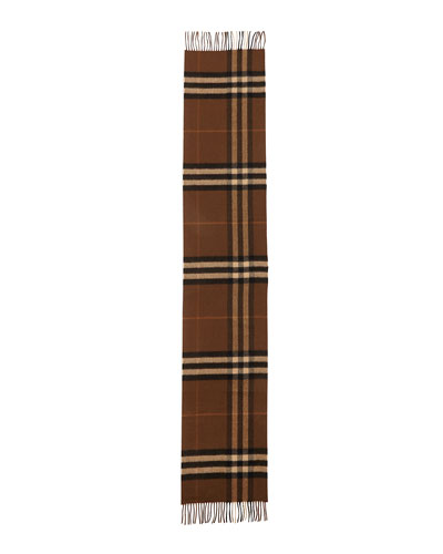 Cashmere Giant Icon Scarf, Brown