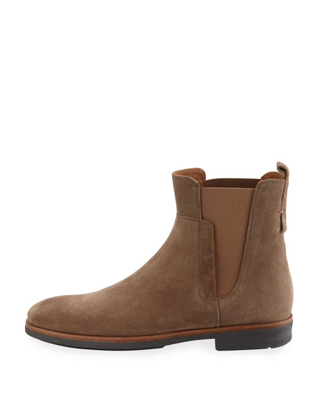 vince s suede chelsea boot light brown