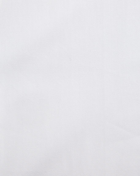 Solid Barrel-Cuff Dress Shirt, White