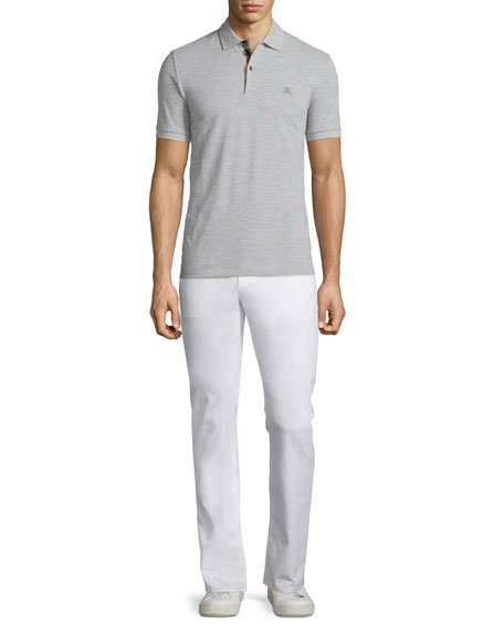 Slim-Fit Straight-Leg Jeans, White