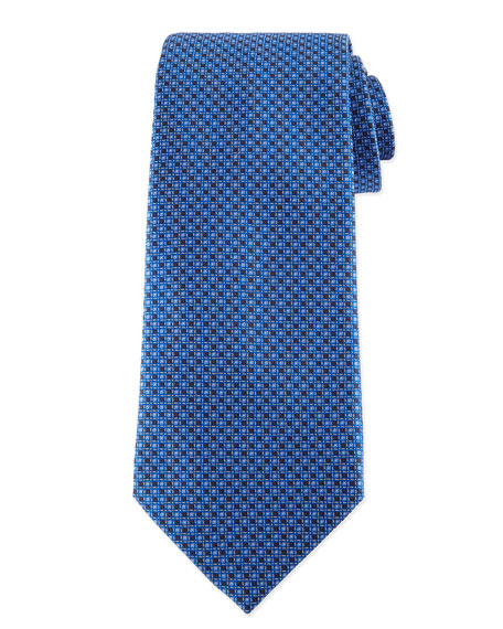 Neat Patterned Silk Tie