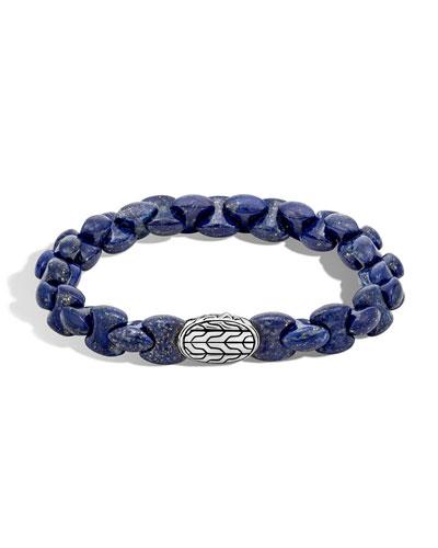 Men's Batu Classic Chain Bracelet with Lapis