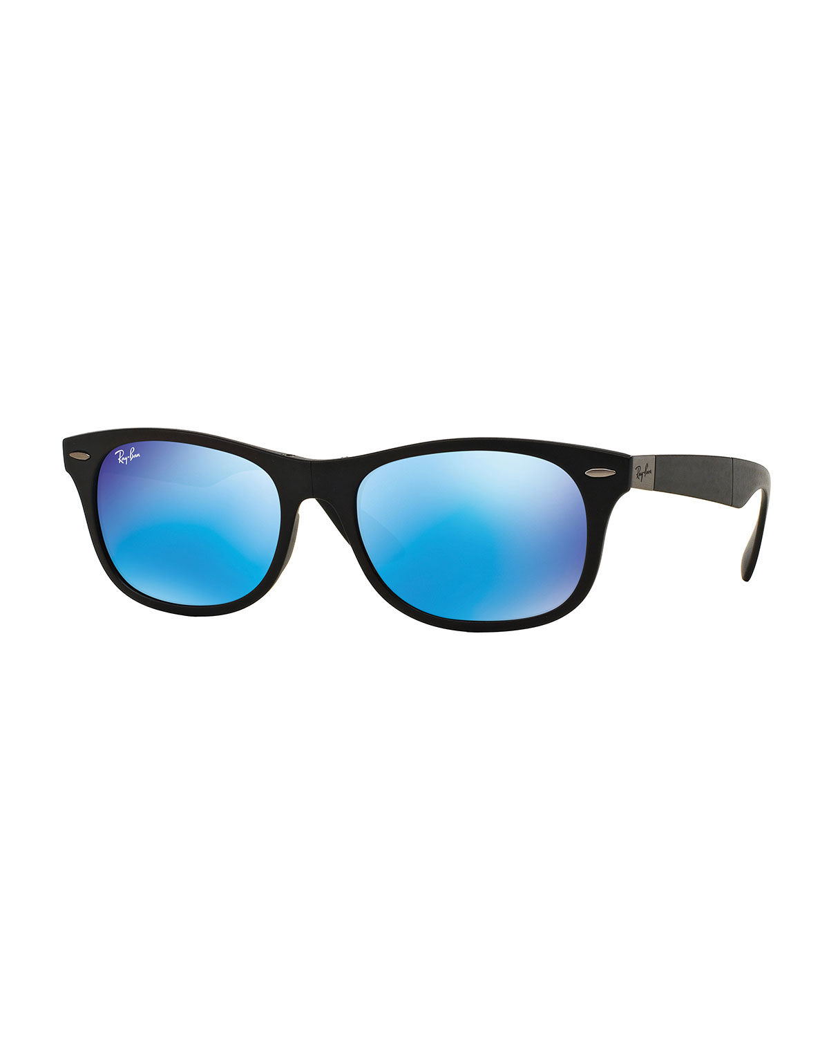 20d5f1cb6002 Ray-Ban Men s Wayfarer Plastic Sunglasses with Mirror Lenses ...