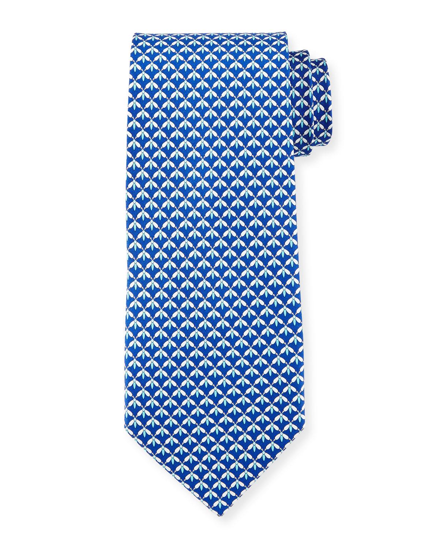 6347f4592b9b Salvatore Ferragamo Dragonfly-Print Silk Tie | Neiman Marcus