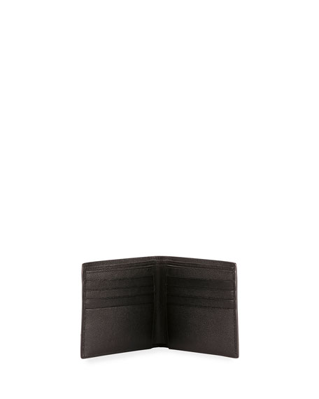 Saint Laurent East-West Calfskin Leather Wallet