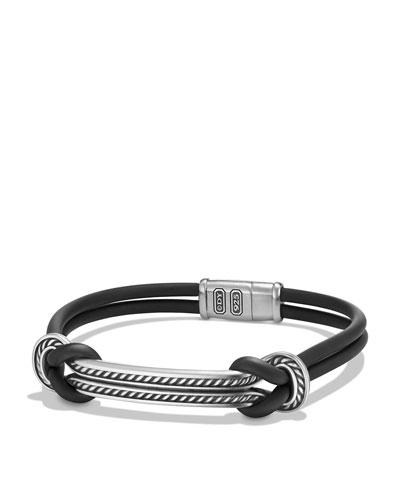 Maritime Men's Rubber Reef Knot ID Bracelet
