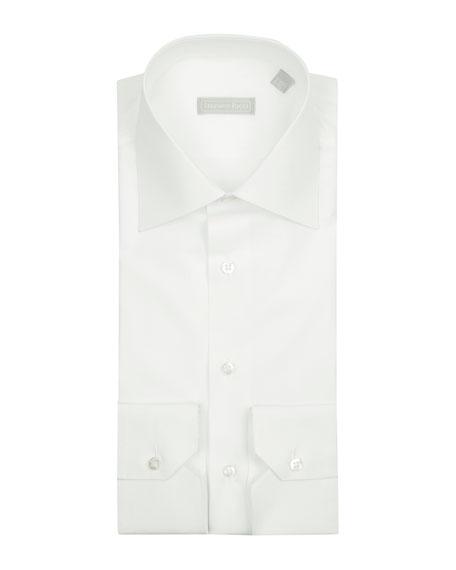 Basic Barrel-Cuff Dress Shirt