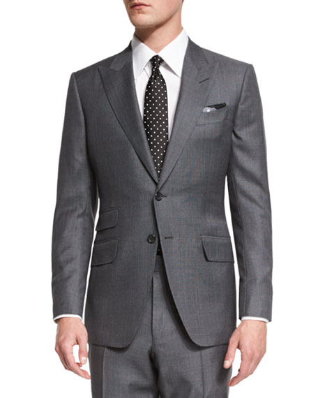 TOM FORD O'Connor Base Irregular Canvas Two-Piece Suit,