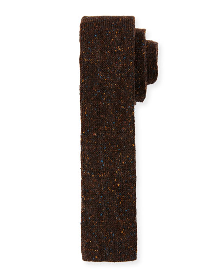 BOSS Flecked Donegal Knit Tie, Brown