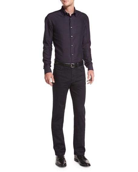 Five-Pocket Denim Jeans, Black