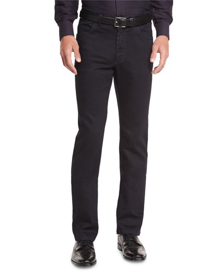 Brioni Five-Pocket Denim Jeans, Black