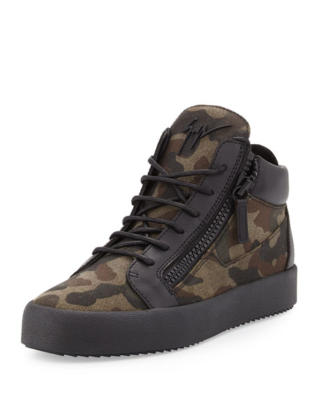 Mens Camo Canvas Shoes