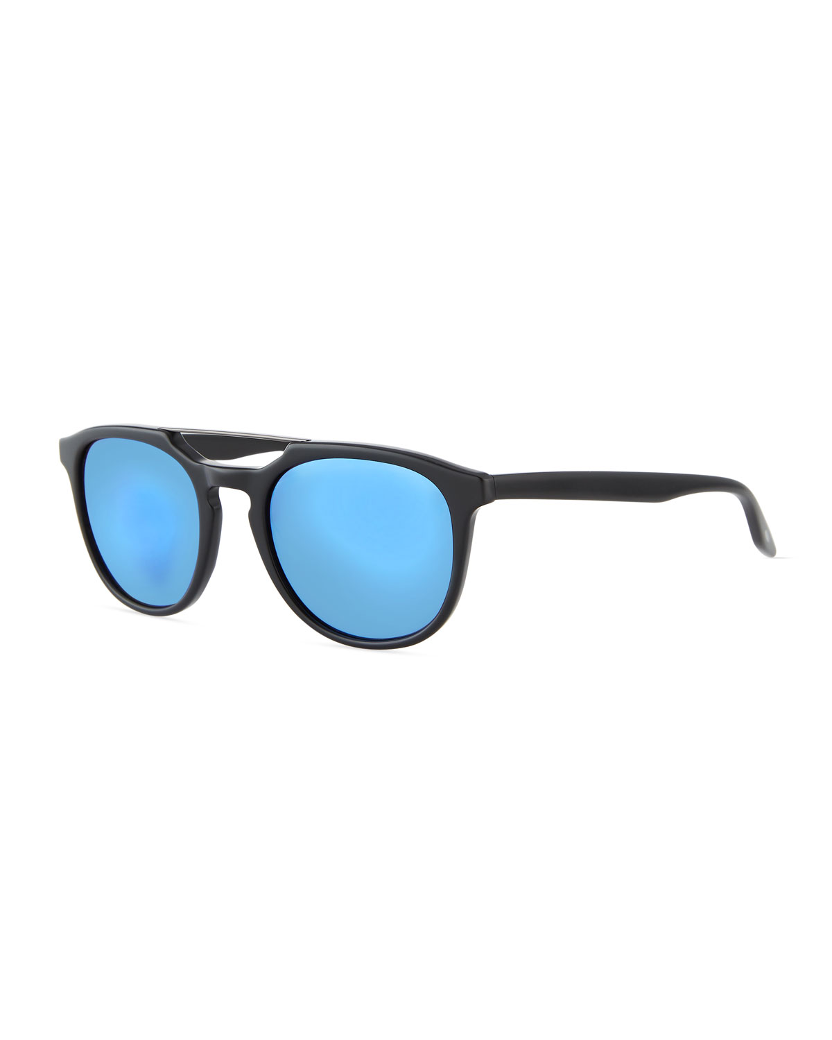 Aviator Sunglasses Without Top  men s rainey round top bar sunglasses black blue free shipping