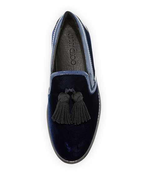Men's Griffin Velvet Tassel Slip-On Sneakers
