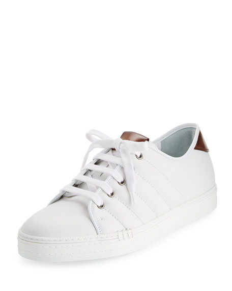 Berluti Playfield Men's Leather Low-Top Sneaker, White