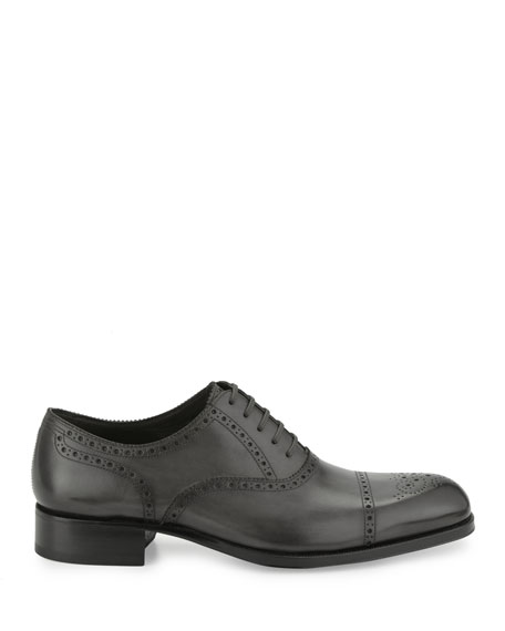 Edgar Medallion Cap-Toe Shoe