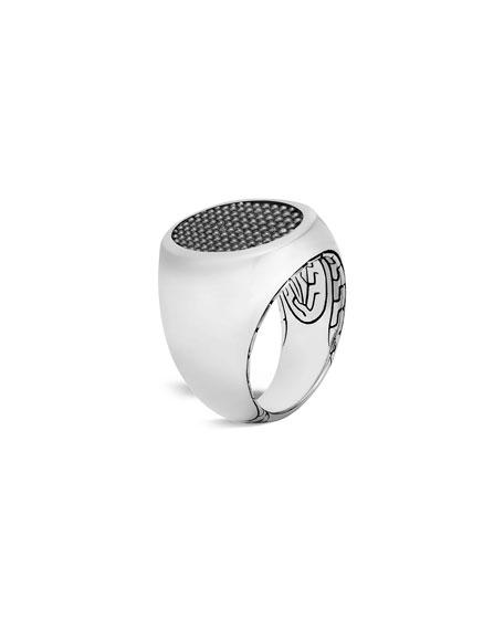 Men's Classic Chain Jawan Signet Ring, Size 10