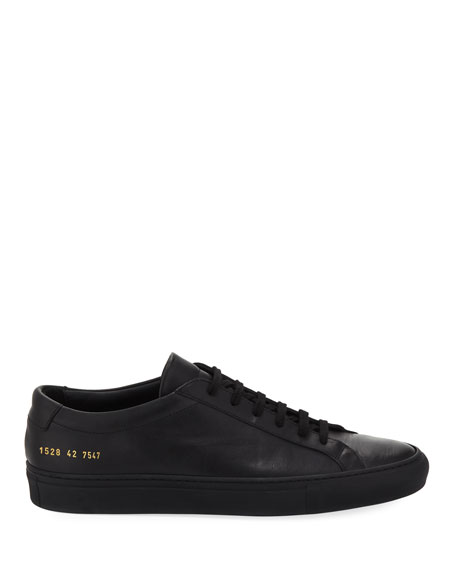 Men's Achilles Low-Top Sneakers, Black