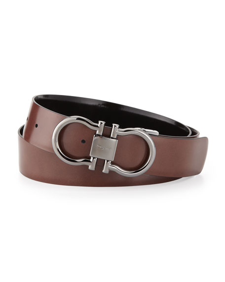 Reversible Double Gancini Belt