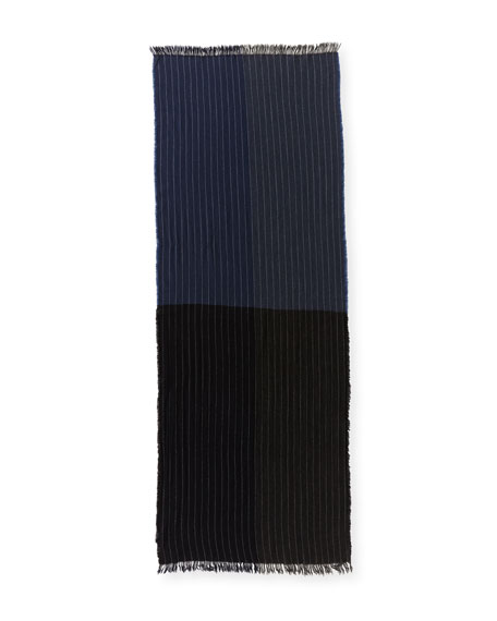 Kishorn Washed Soho Striped Cashmere Scarf