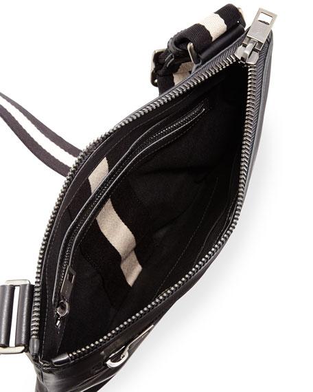 Tosna Men's Leather Crossbody Bag, Black