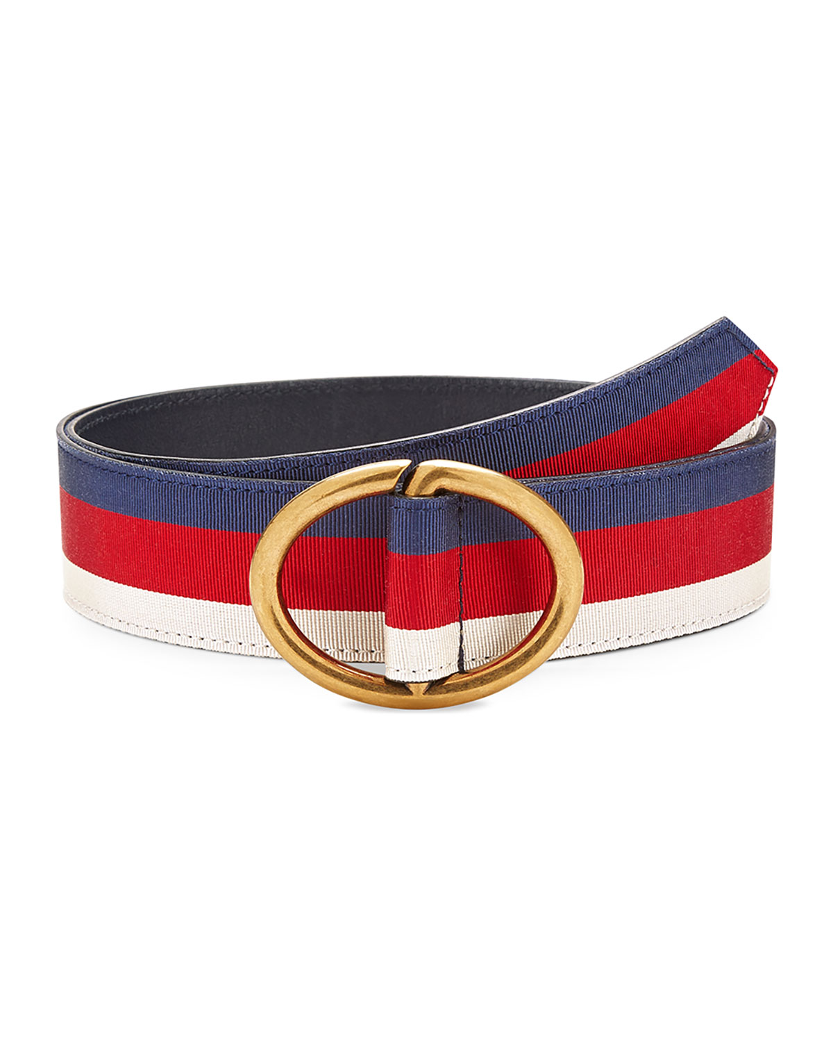 1d8ba43aa18 Gucci Men s Web Belt with Gold Buckle