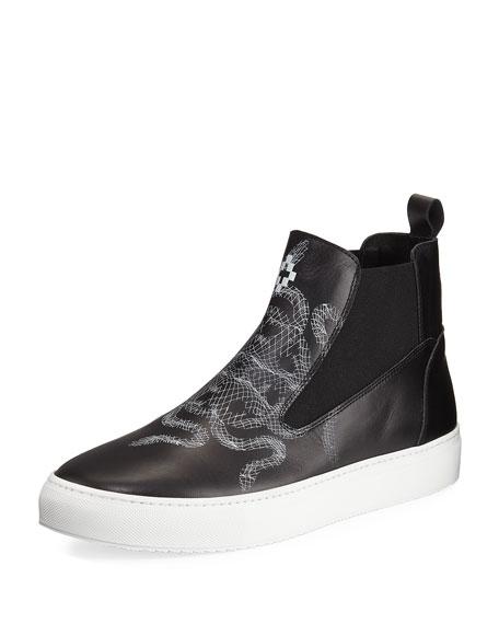 Marcelo Burlon Essie Snake-Print Sneaker Boot, Black