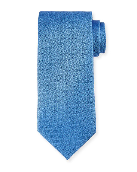 Neat Interlocking Silk Tie