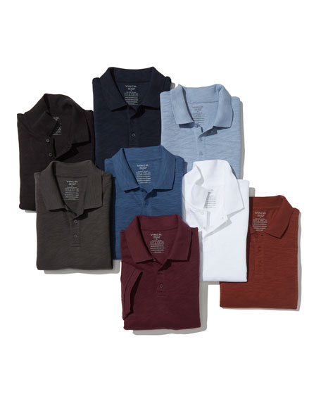 Image 2 of 6: Classic Slub Cotton Polo Shirt
