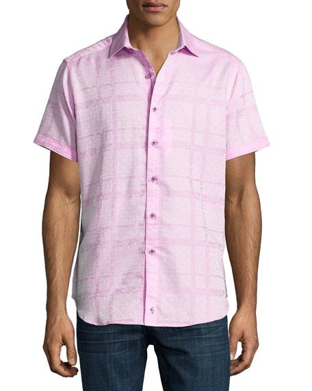 Morley Short-Sleeve Jacquard Sport Shirt