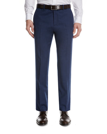 Theory Marlo O Heiron Wool Suit Pants, Blue