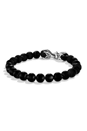 David Yurman 8mm Black Onyx Spiritual Bead Bracelet $395.00