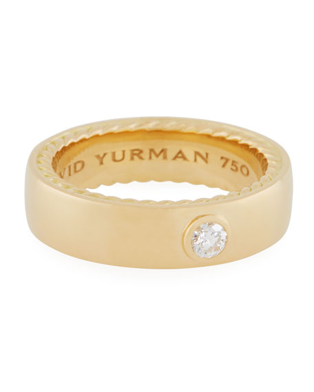 David Yurman Streamline 18k Narrow Band Ring