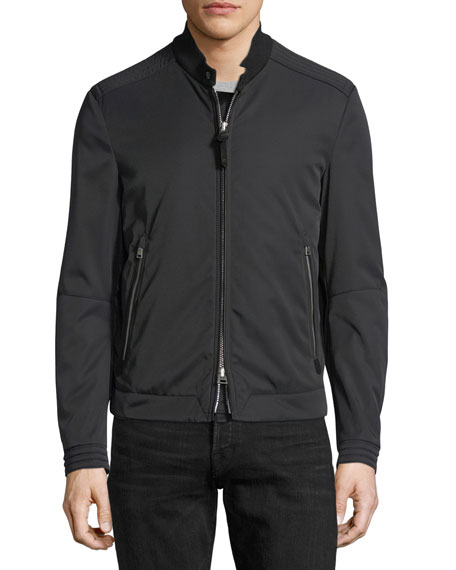Nylon-Cotton Blouson Jacket