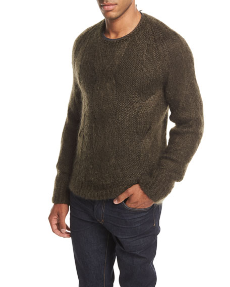 Cable-Knit Mohair-Silk Sweater
