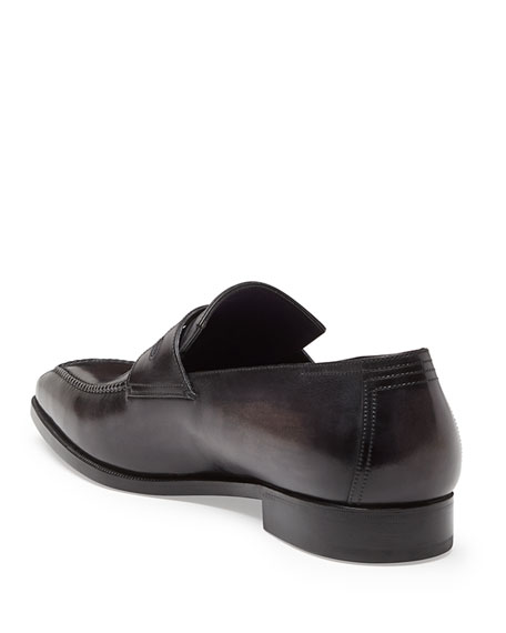 Berluti Andy Leather Loafer, Black
