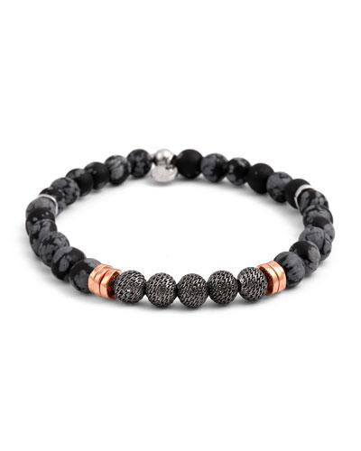 Tateossian Men S Stonehenge Bead Bracelet