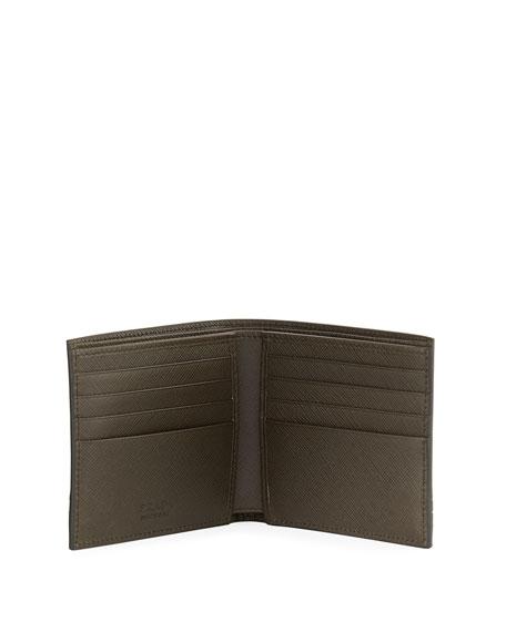 Saffiano Greche Leather Wallet
