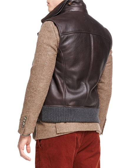 Lamb Leather & Shearling Vest