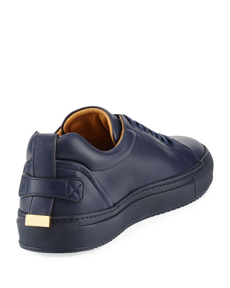 Lyndon Leather Low-Top Sneaker, Navy