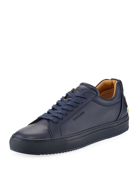 Buscemi Men's Lyndon Leather Low-Top Sneakers, Navy